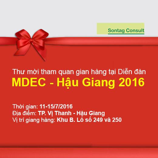 Thư mời tham quan gian hàng tại Diễn đàn MDEC 2016 Hậu Giang